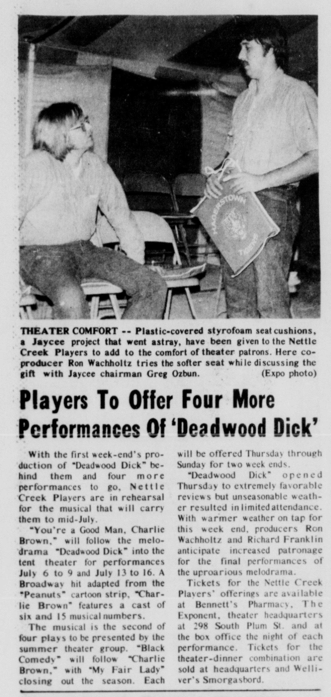 June 1972 Deadwood Dick