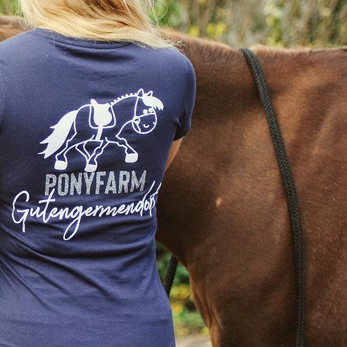 Gutengermendorf Pony Farm | casual hoodie | navy | with GLITTER PRINT!