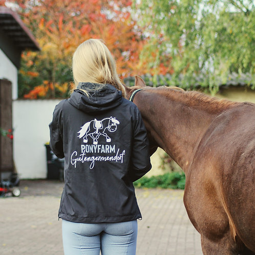 Gutengermendorf Pony Farm | cool windbreaker | black | with GLITTER PRINT!