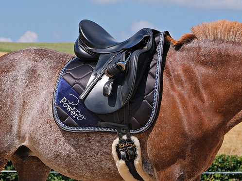 """3D-MESH x BAMBOO SADDLE PAD """"Midnight Sky""""   black   in 4 sizes"""