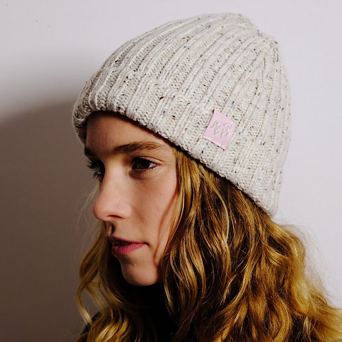 Mottled knitted hat | bordeaux, beige, black, navy | super soft