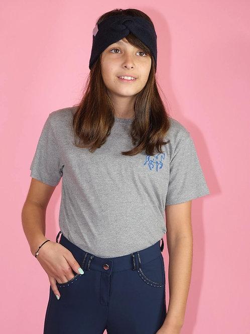 KIDS Super Soft T-Shirt BIO | schwarz-grau-navy| mit Glitzerdruck
