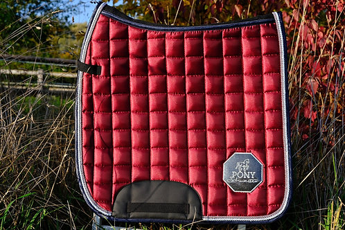 "Beautiful BAMBOO + SATIN SADDLE PAD ""Red Wine"" 
