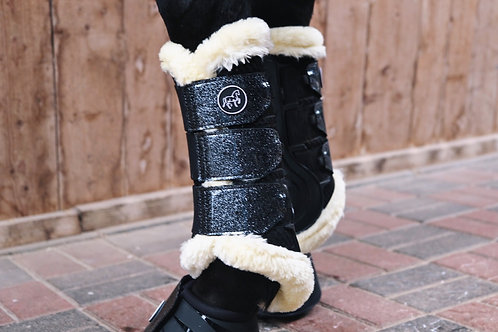 """Horse Boots """"Midnight Bling Fur"""" 