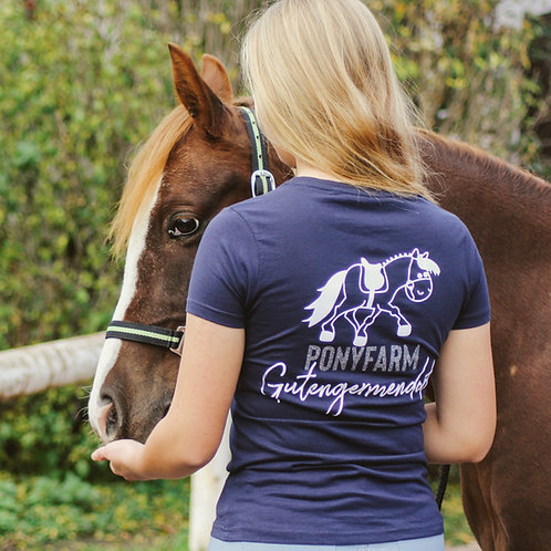 Ponyfarm Gutengermendorf | schönes T-Shirt | navy | mit GLITZERDRUCK!