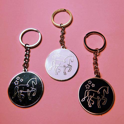 Emaille Schlüsselanhänger | 3 Farben | mit Logopferd