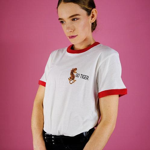 "Oversize super soft T-shirt BIO | ""Go Tiger!"" | for boys & girls"