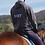 Thumbnail: Cooler Ponybruder & Ponypapa Hoodie | grau + navy | Größe 104 - 3XL