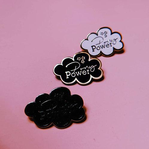 Emaille Pins / Anstecknadeln | 3 Farben | Ponypower