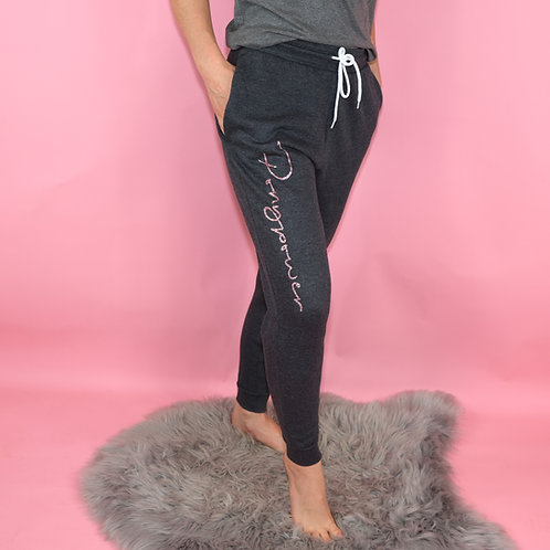 Super Soft JOGGING TROUSERS | with glitter print | for kids and ladies