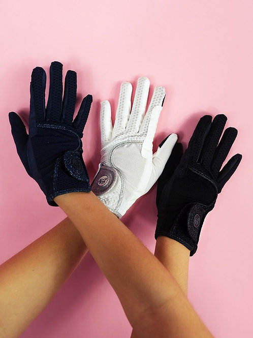 super comfortable favorite horse rirding gloves | in black, navy and white | Sizes 4-9