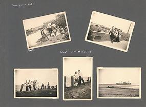 Fotoalbum blad uit 1951