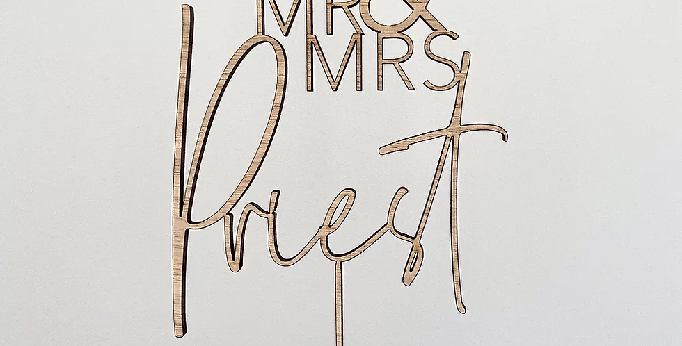 LITTLE LETTER CO CAKE TOPPERS