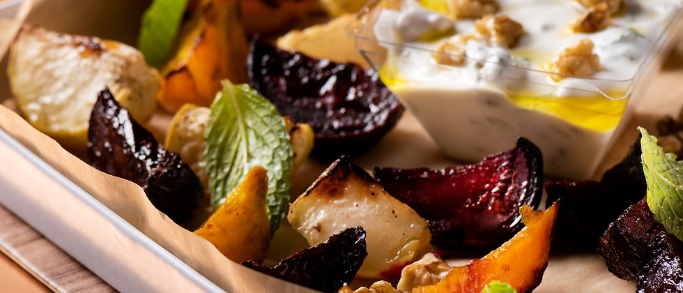 Oven Roast Root Veggies