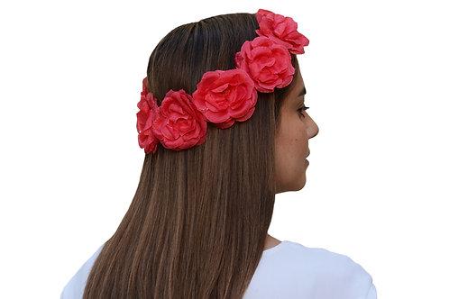 Corona de Flores Roja