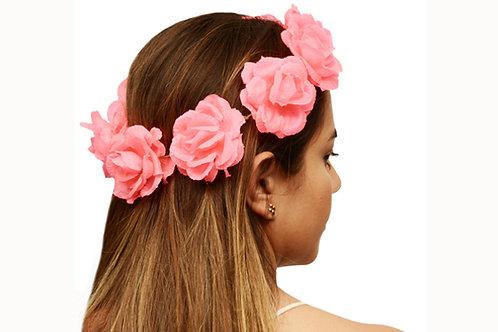 Corona de Flores Rosa