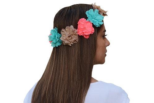Corona de Flores Multicolor