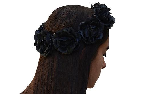 Corona de Flores Negra