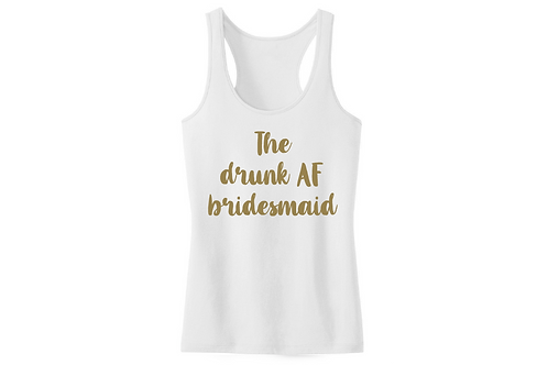 The drunk AF bridesmaid