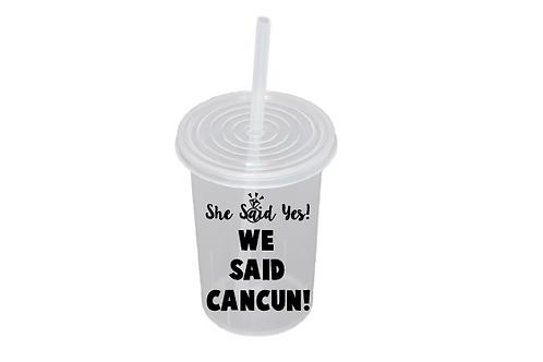 She said yes! We said Cancun!