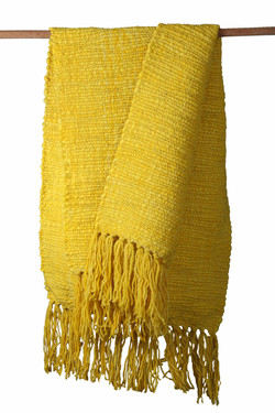 Yellow Double Square Throw