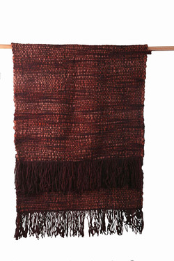 Brown Double Square Throw