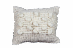 White Fleece Cushion in the middle