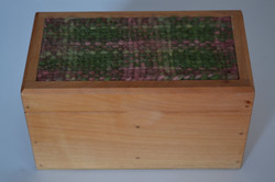 Caja Verde Oscuro Rosado Matizado