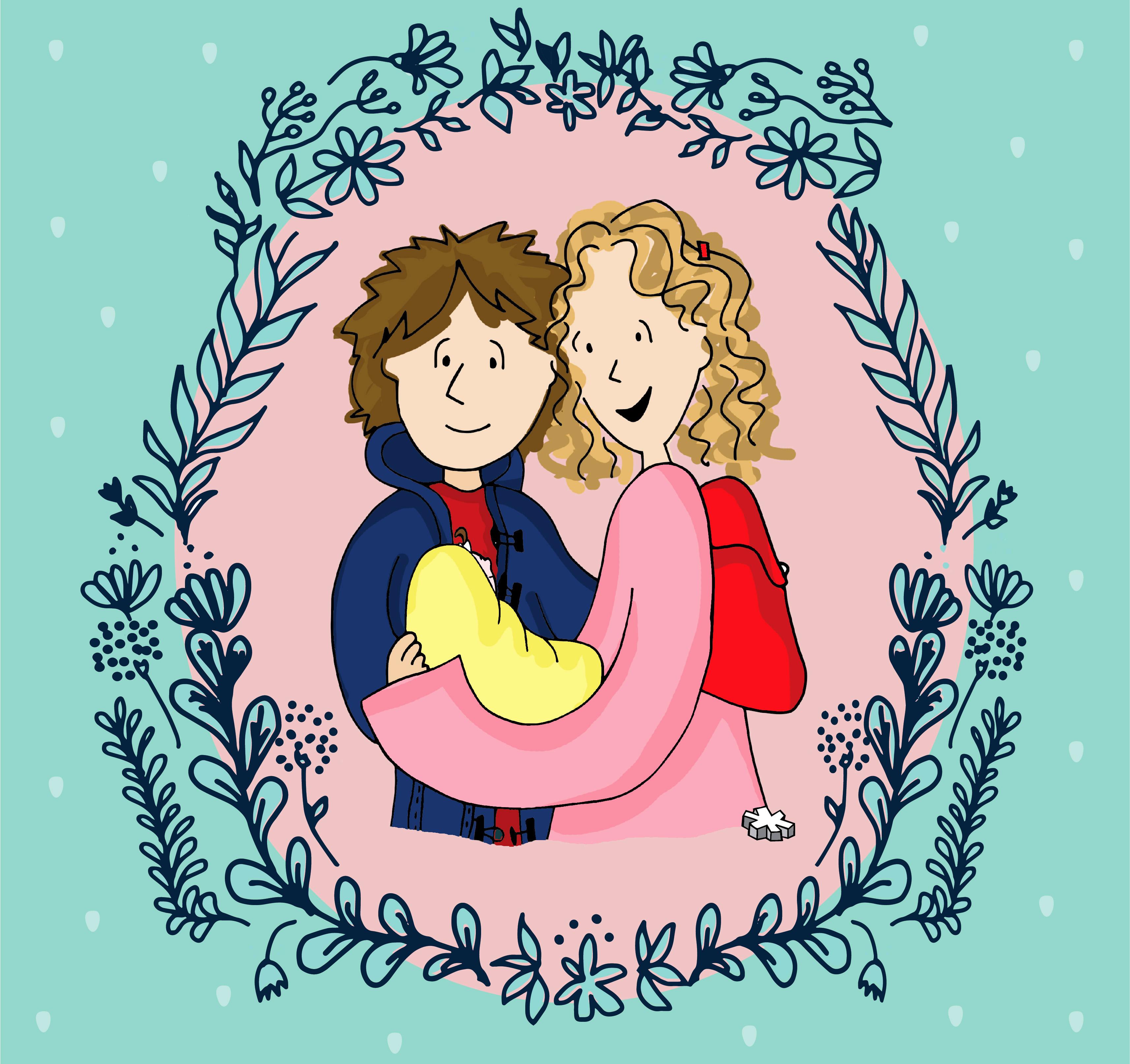 Familia Feliz: Vivi, JuanP y Juanita
