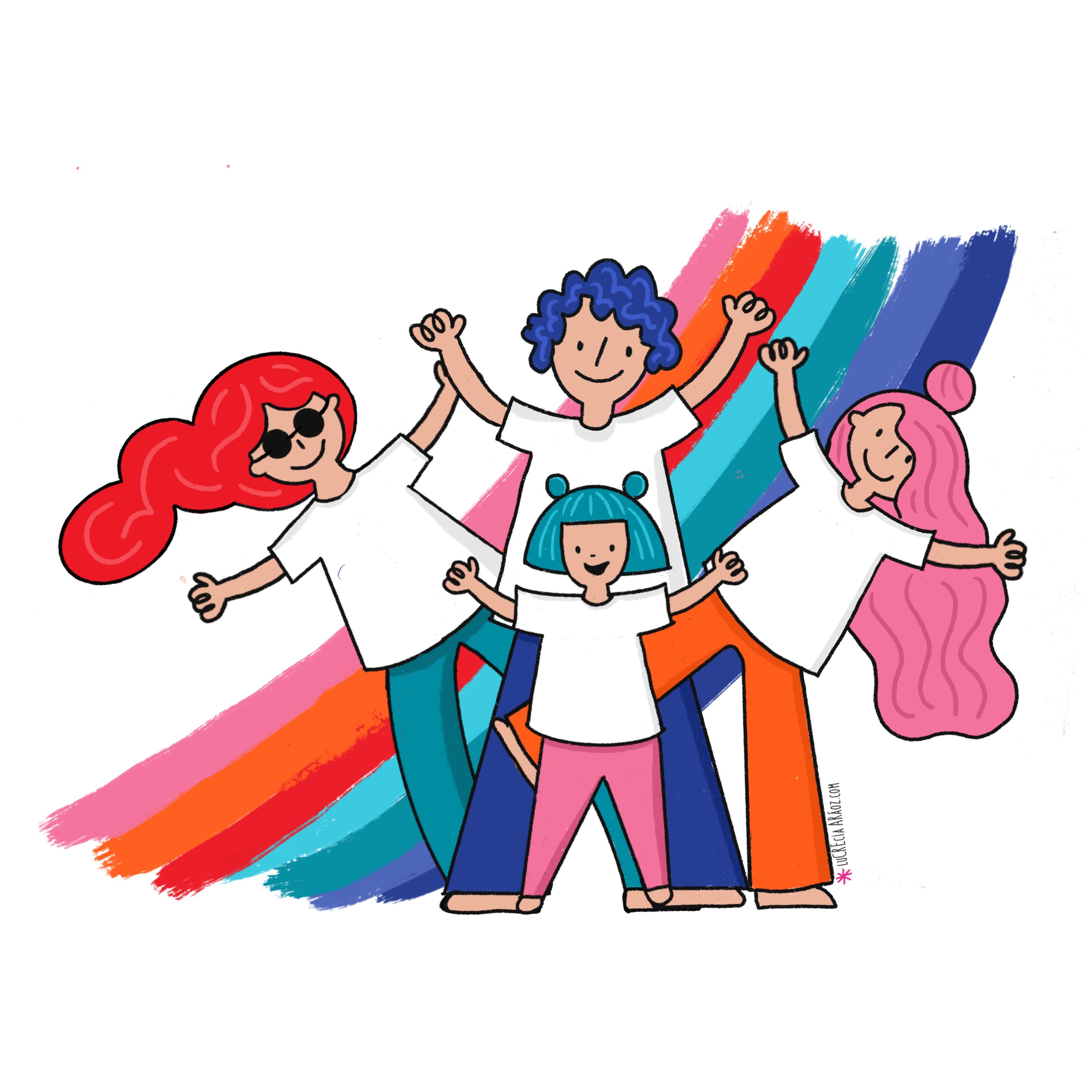 Ilustración Ponete la camiseta Fundación FLEXER