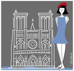 Ilustración espontánea Notre Dame
