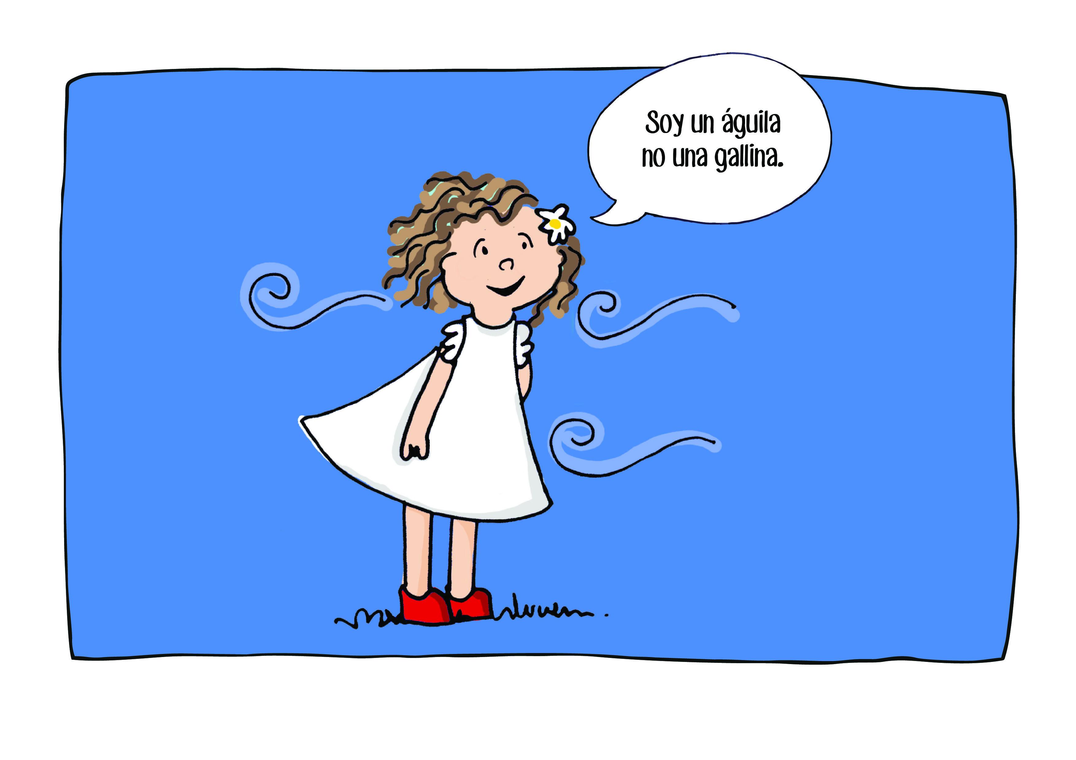 Ilustración Manuela a todo color