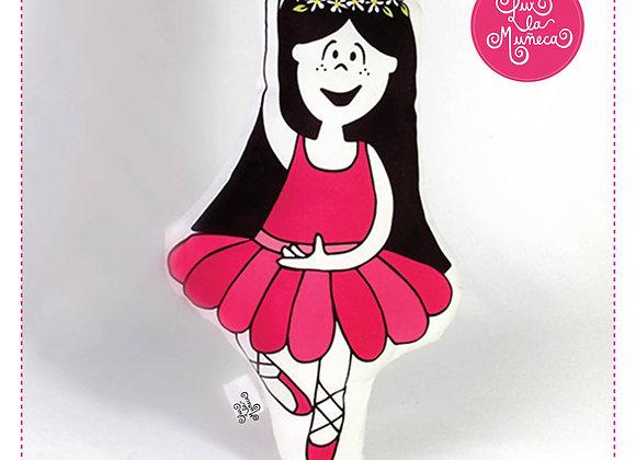 Muñeca de trapo / Almohadón - Lux Bailarina