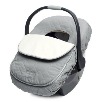 Shower cap style covers are safe, but the ones that go between your baby and the seat are not!