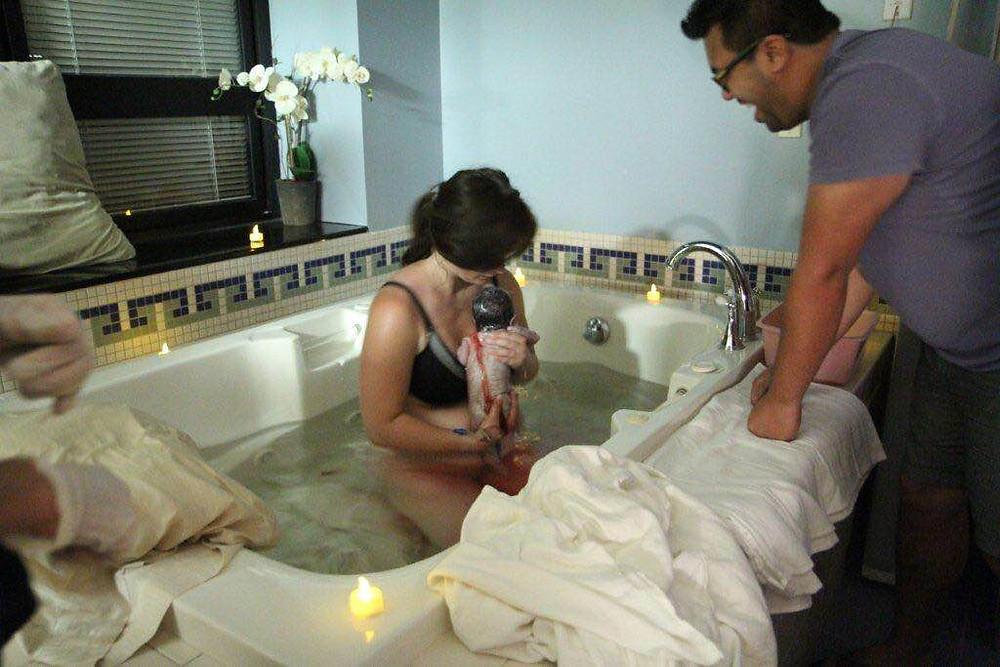 Laura's water birth