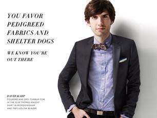Pedigreed fabrics, designer dogs