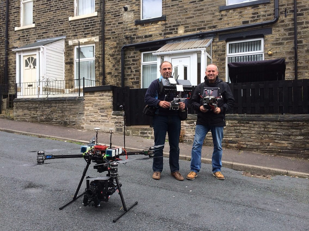 Pilot Angus Benson Blair & Camera Operator Darren Miller