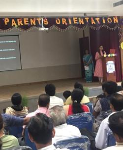 Parenting workshop at a school