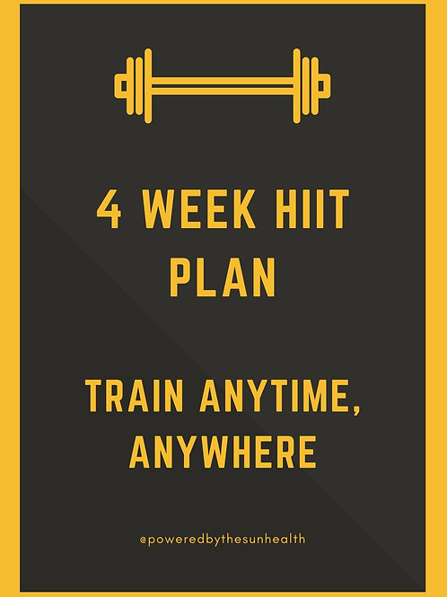 4 Week Hiit Plan