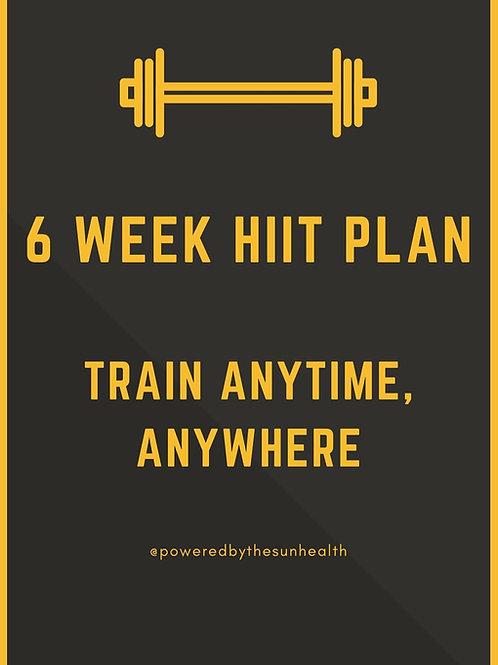 6 Week HIIT Plan