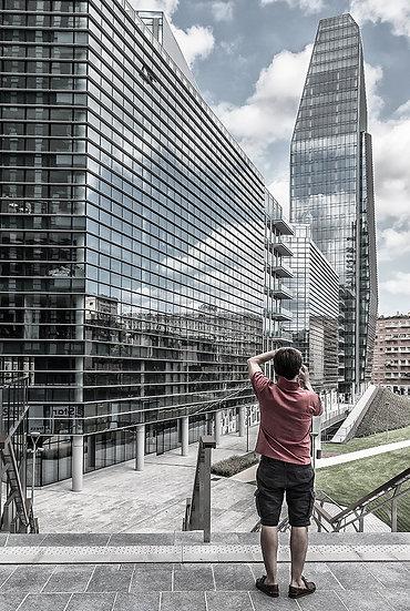 Milano, V.le Liberazione e Torre Diamante | Gianni Maffi