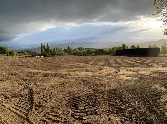 Land prepped for planting