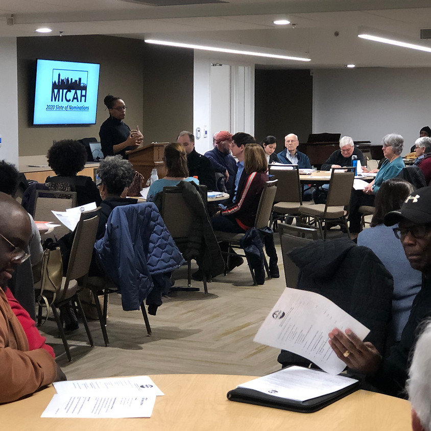 MICAH Monthly Meeting: March 2020