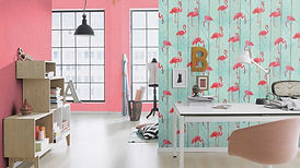 Barbara-Becker-Tapete-b-b--Flamingo-Holz
