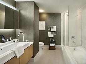 Modern-bathroom-textured-gray-wallpaper.