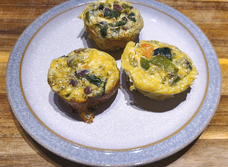 Keto Goat Cheese and Mushroom Fritattas