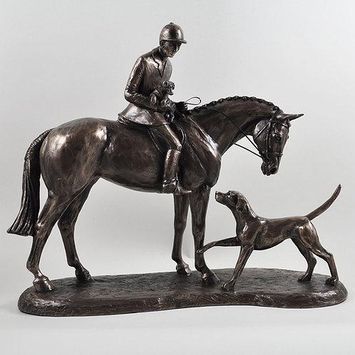 "Brons skulptur ""Country Companion"""