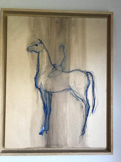 Cheval bleu av Simmone l'Hermitte