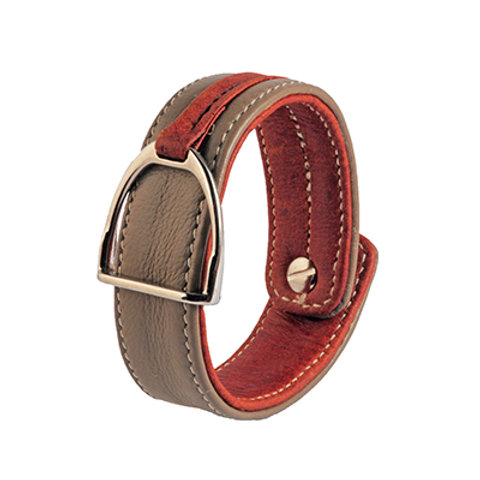 Armband Stigbygel oliv/brun