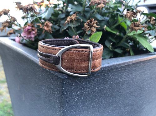 Armband Stigbygel brun/mörkbrun